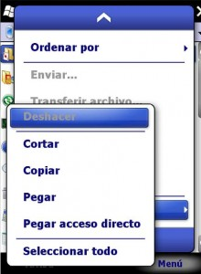 Windows Mobile acceso directo 04