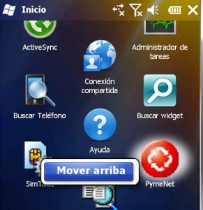 Windows Mobile acceso directo 06